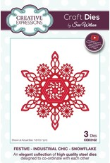 Creative Expressions Art Deco Snowflake - Festive Collection Die