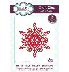 Creative Expressions Festive Collection - Art Deco Snowflake