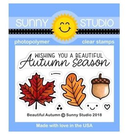 Sunny Studio Beautiful Autumn Clear Stamps