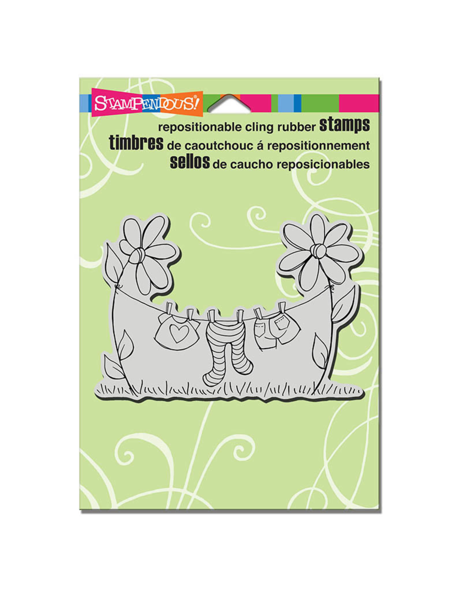 Stampendous Clothesline - Cling Stamp