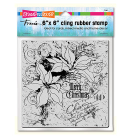Stampendous Cling Poinsettia Collage