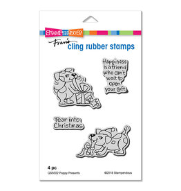 Stampendous Puppy Presents Cling Set