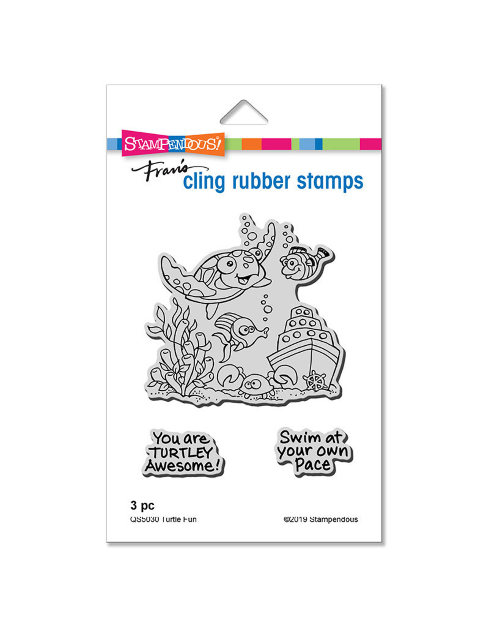 Stampendous Turtle Fun - Cling Stamp