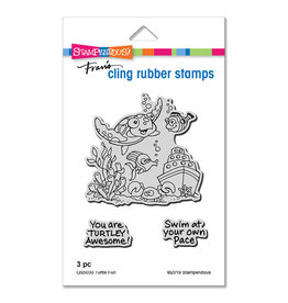 Stampendous Turtle Fun Cling Set