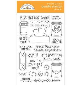 Doodlebug Design Inc. Pill Better - Clear Stamp Set