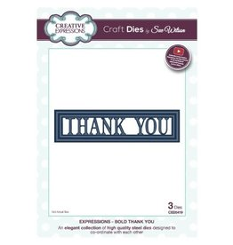 Creative Expressions Thank You - Bold Die (40%)