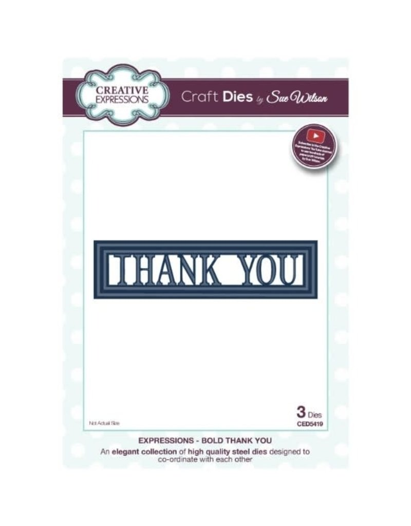 Creative Expressions Thank You - Bold Die