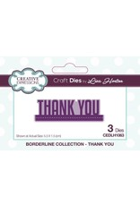 Creative Expressions Borderline Collection - Thank You