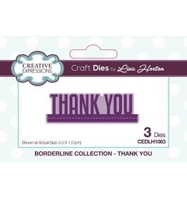 Creative Expressions Thank You - Borderline Collection Die