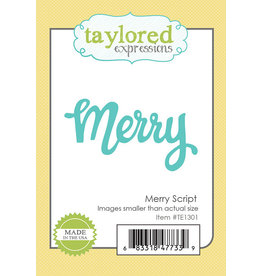 Taylored Expressions Merry Script - Die Set