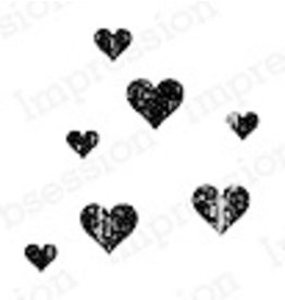 Impression Obsession Grunge Hearts - Cling