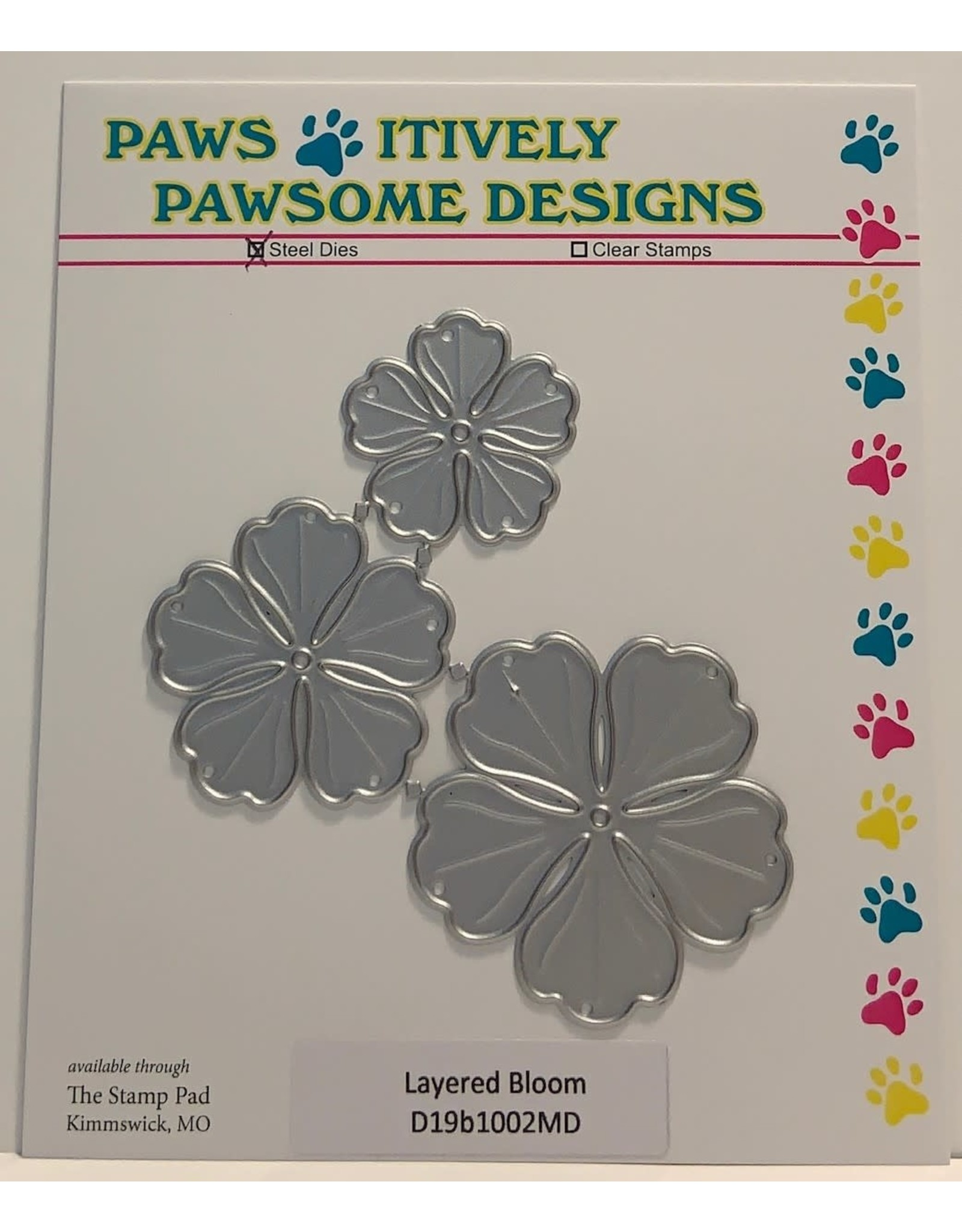Paws-Itively Pawsome Designs Layered Bloom - Die