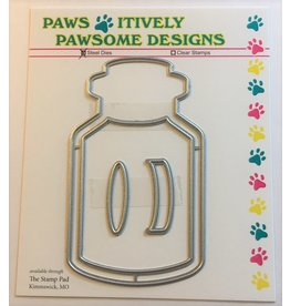 Paws-Itively Pawsome Designs Lidded Shaker Jar - Die