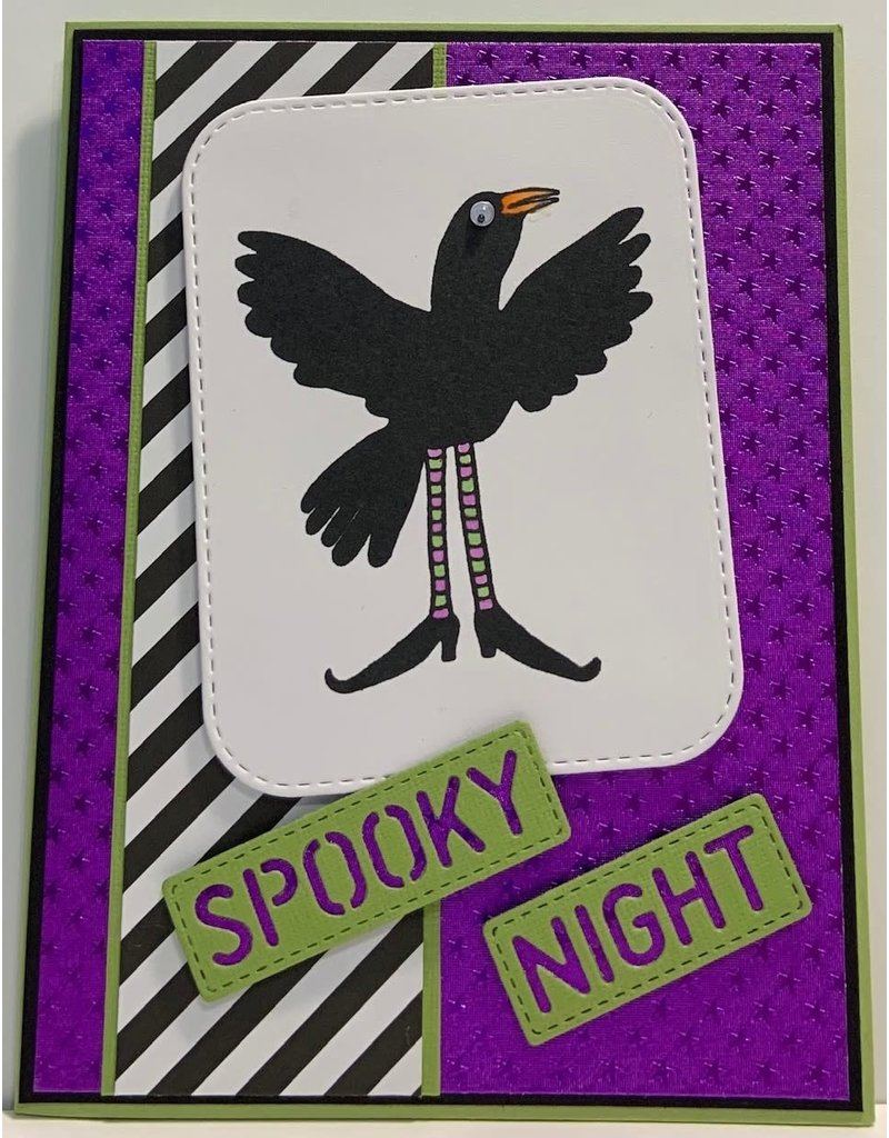Impression Obsession Crazy Crow 1 - Cling Stamp