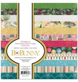 Bo Bunny Christmas in the Village Collection - 6x6 Paper Pad