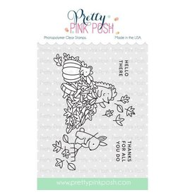 Pretty Pink Posh Fall Scene - Clear Stamp Set