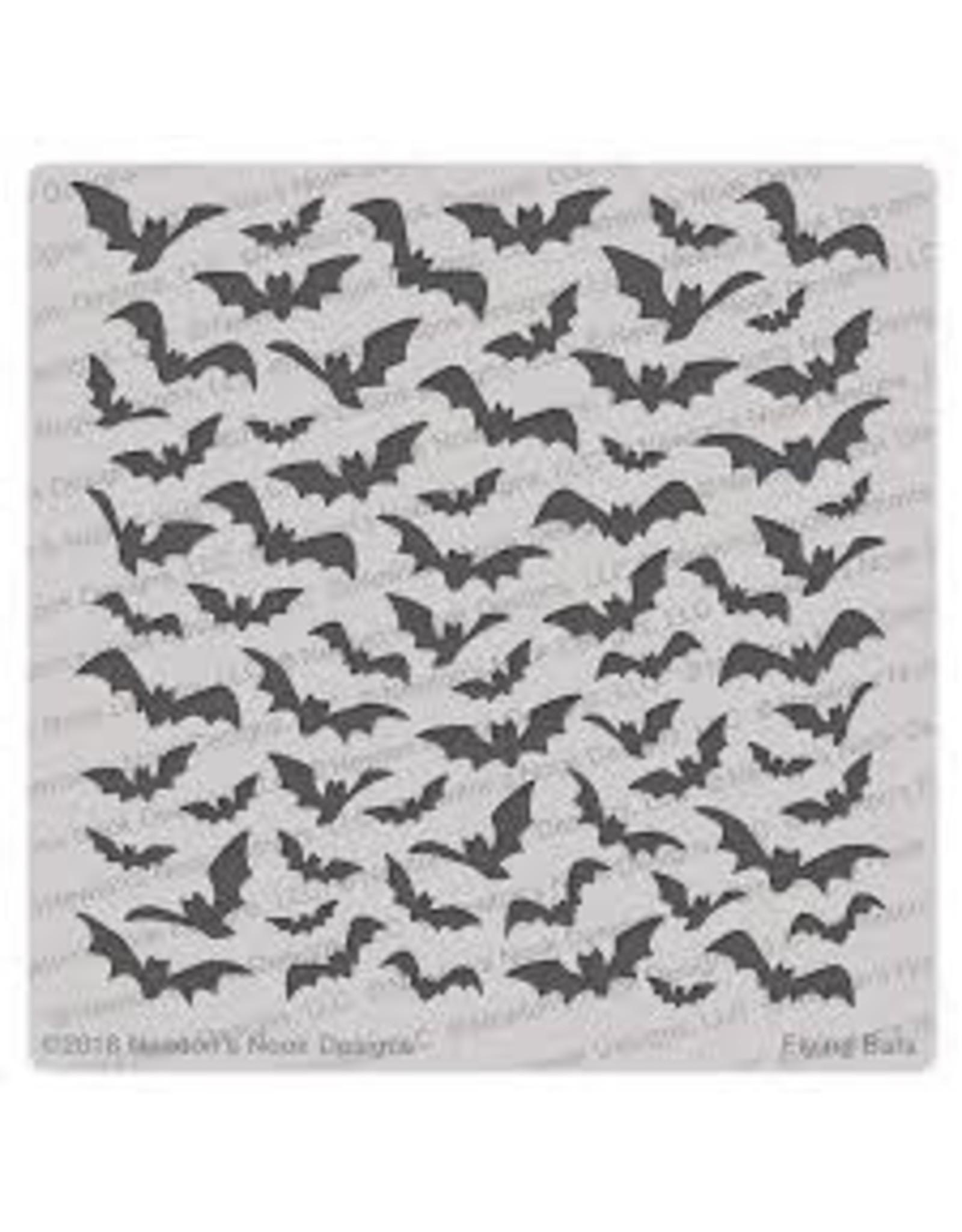 Newton's Nook Flying Bats - 6x6 Stencil