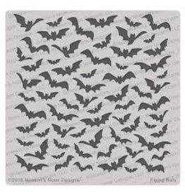 Newton's Nook Flying Bats - 6x6 Stencil