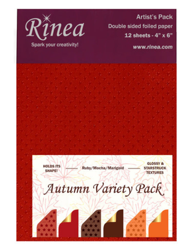 Rinea Autumn Foiled Paper Variety Pack