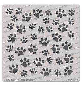 Newton's Nook Pawprints - 6x6 Stencil