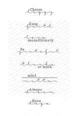 Impression Obsession Sentiments - Cling Stamp