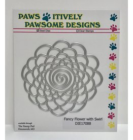 Paws-Itively Pawsome Designs Fancy Flower with Swirl