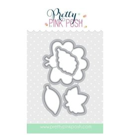 Pretty Pink Posh Happy Turkey - Die Set