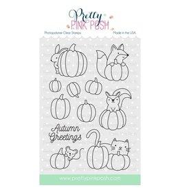 Pretty Pink Posh Pumpkin Patch Critters Clear Stamp Set