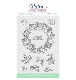Pretty Pink Posh Autumn Wreath - Clear Stamp Set