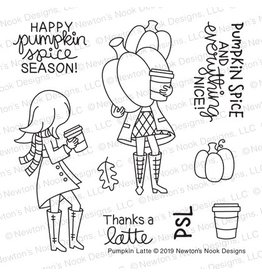 Newton's Nook Pumpkin Latte - Clear Stamp Set