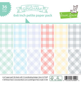 Lawn Fawn Gotta Have Gingham 6x6 Paper Pack