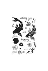 Hero Arts Color Layering Koi Clear Stamp Set
