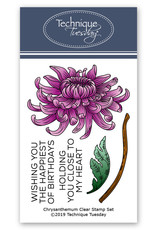 Technique Tuesday Chrysanthemum (Greenhouse Society) - Clear Stamps
