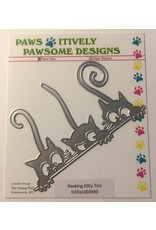 Paws-Itively Pawsome Designs Peeking Kitty Trio