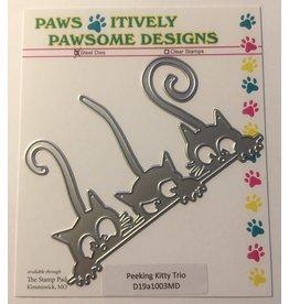 Paws-Itively Pawsome Designs Peeking Kitty Trio