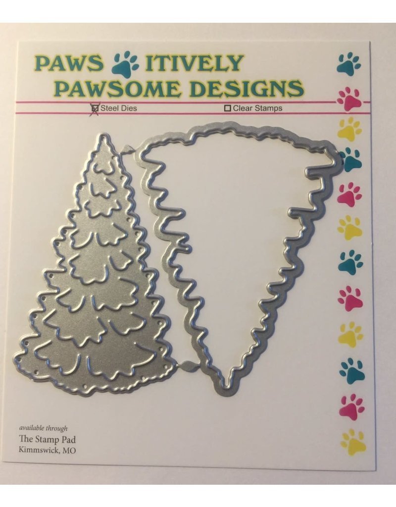 Paws-Itively Pawsome Designs Layering Fir Tree Set
