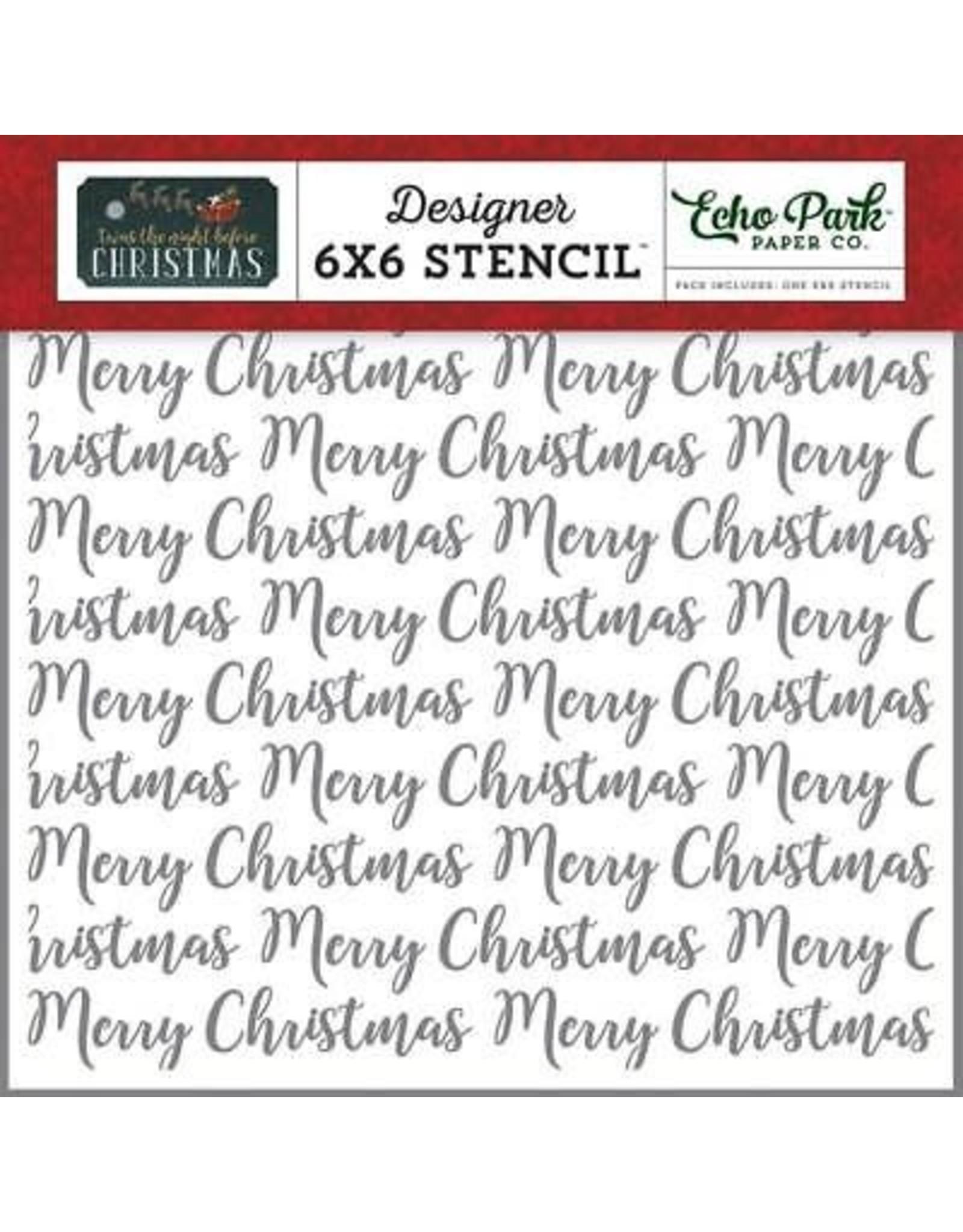Echo Park Merry Christmas Word - 6x6 Stencil set