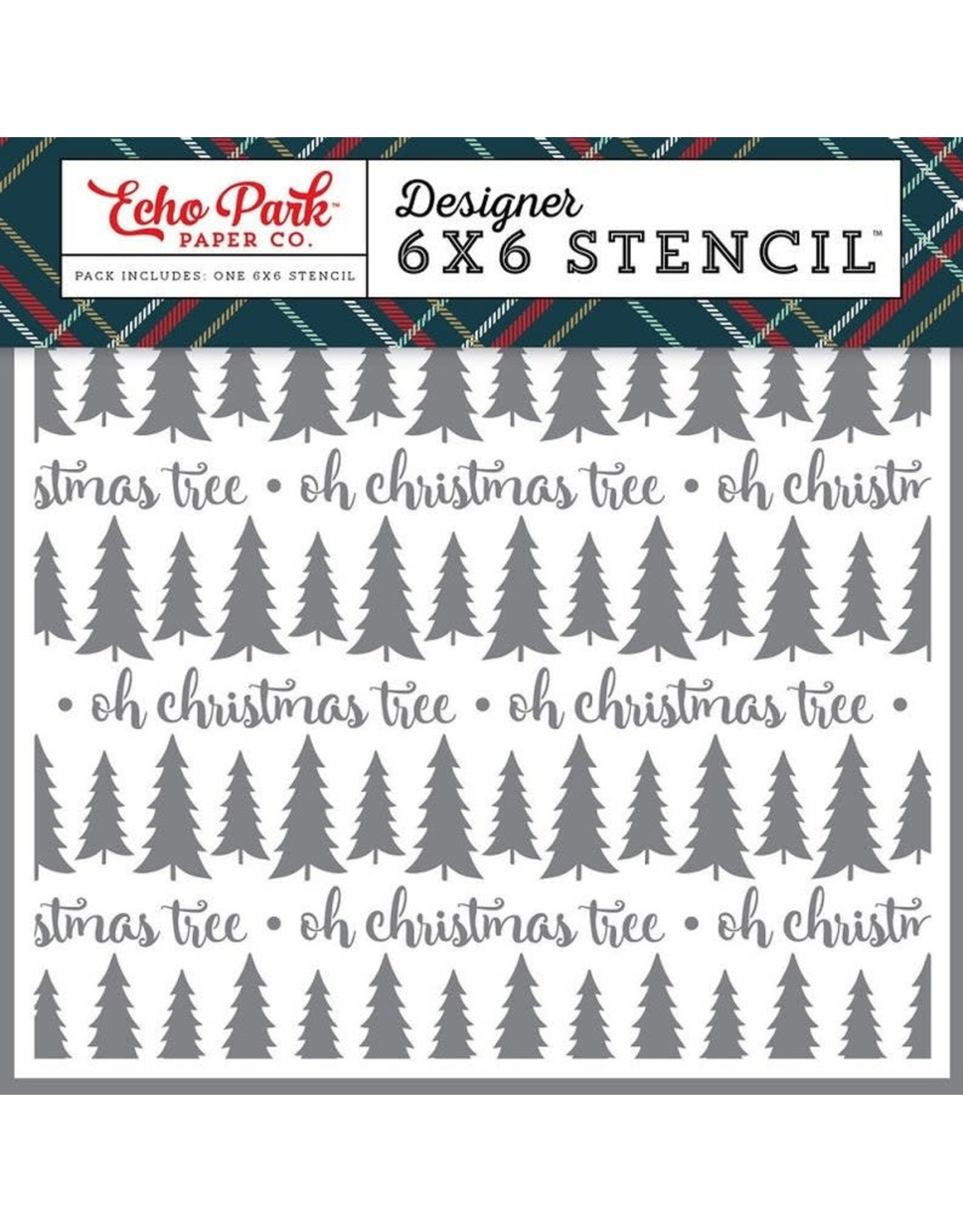 Echo Park Oh Christmas Tree - 6x6 Stencil