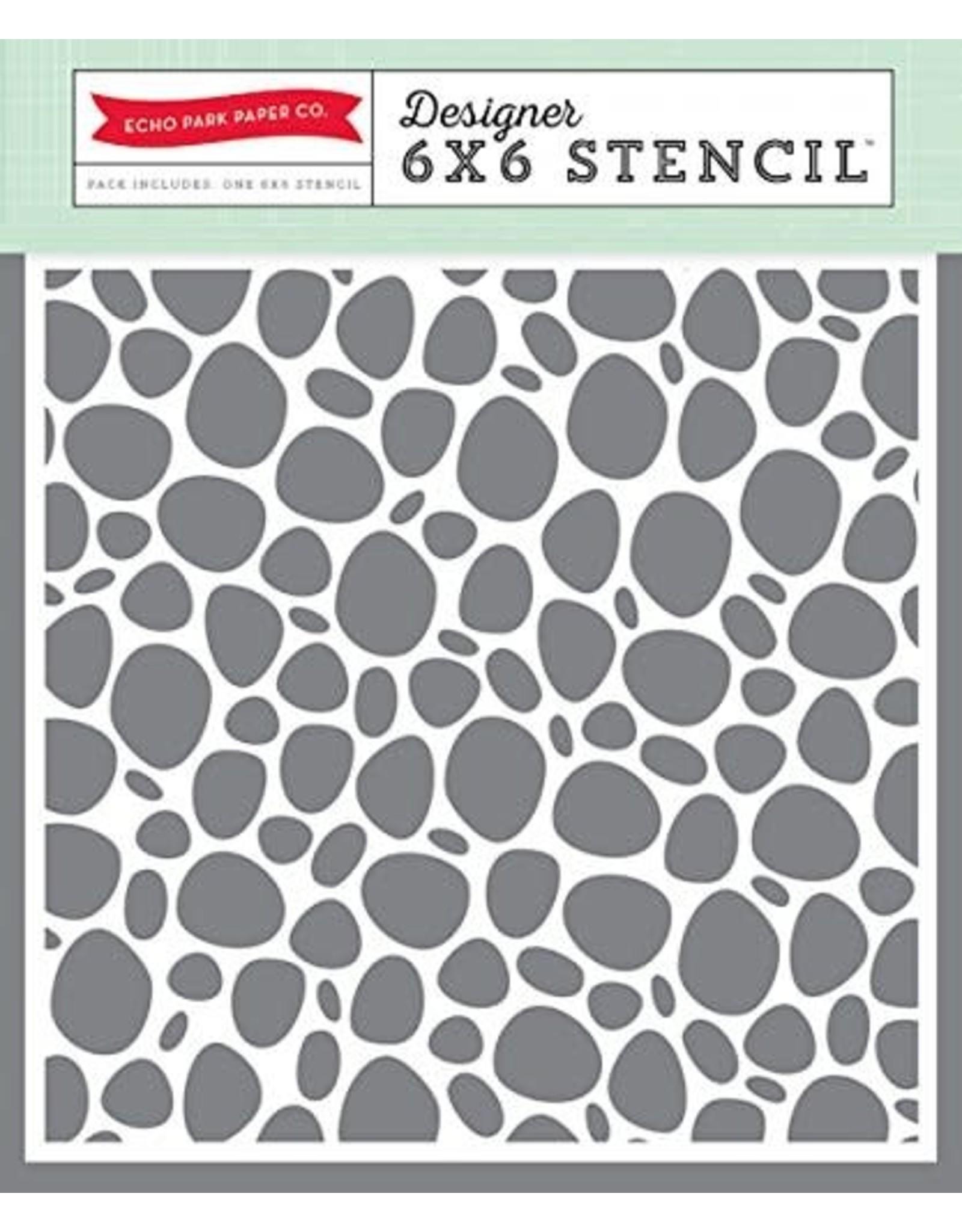 Echo Park Rock - 6x6 Stencil