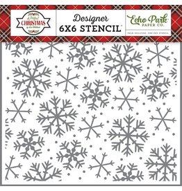 Echo Park Sparkling Snowflake - 6x6 Stencil