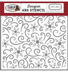 Echo Park Snowflake Swirl - 6x6 Stencil