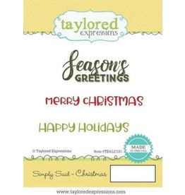 Taylored Expressions Simply Said  Christmas - Cling Stamps