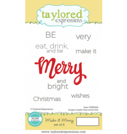 Taylored Expressions Make It Merry - Cling Stamps