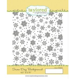 Taylored Expressions Snow Day - Background Cling Stamp