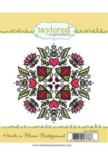 Taylored Expressions Hearts in Bloom - Background Cling Stamp