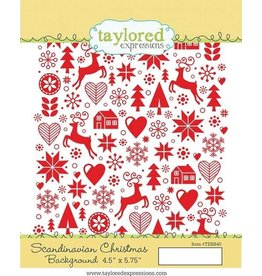 Taylored Expressions Scandinavian Christmas - Background Cling Stamp