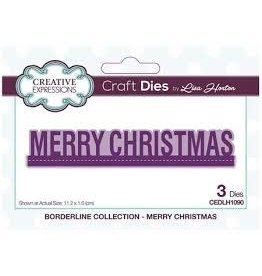 Creative Expressions Merry Christmas - CE Borderline Collection Die