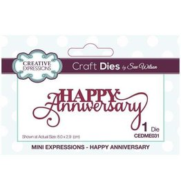 Creative Expressions Happy Anniversary - Mini Expressions Die