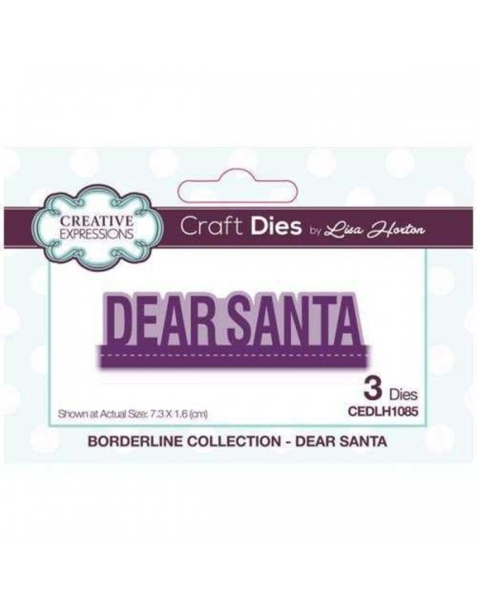 Creative Expressions Dear Santa - Borderline Collection Die