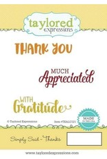 Taylored Expressions Simply Said Thanks - Cling Stamps